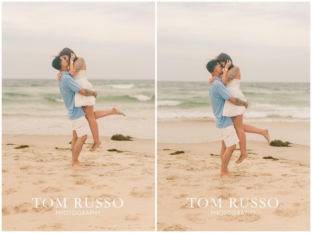 Amanda and Vinny Engagement Session Long Beach Island Holgate NJ 50