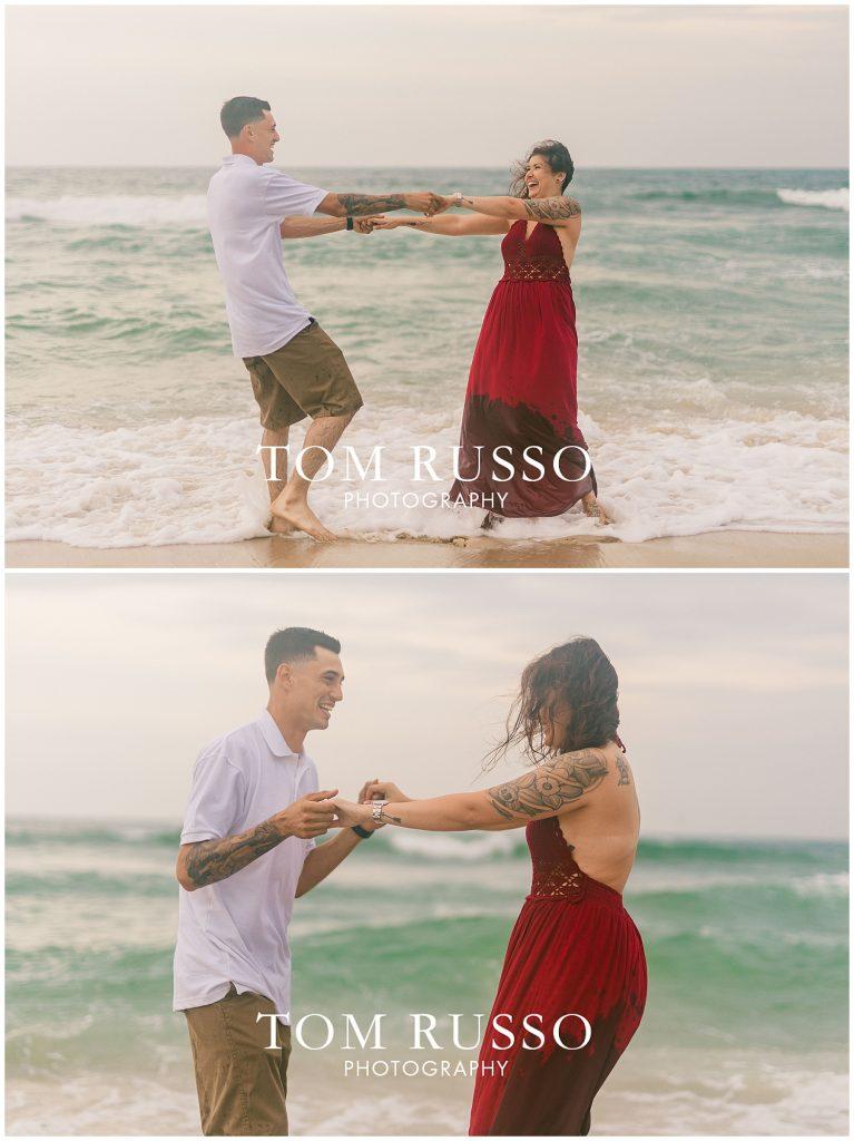 Amanda and Vinny Engagement Session Long Beach Island Holgate NJ 62