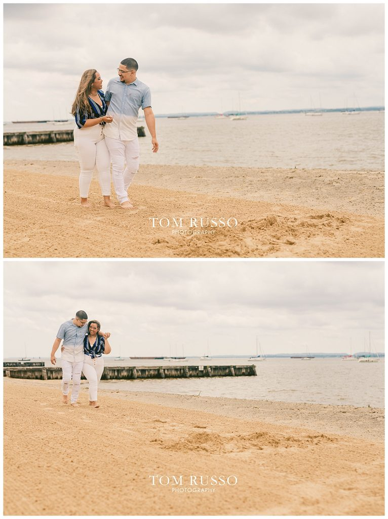 Marianny and Randy Waterfront Engagement Session Perth Amboy NJ 36