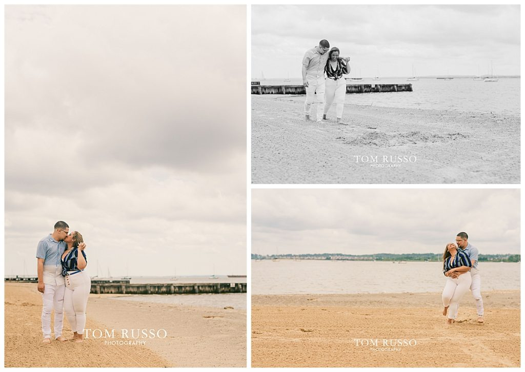 Marianny and Randy Waterfront Engagement Session Perth Amboy NJ 37