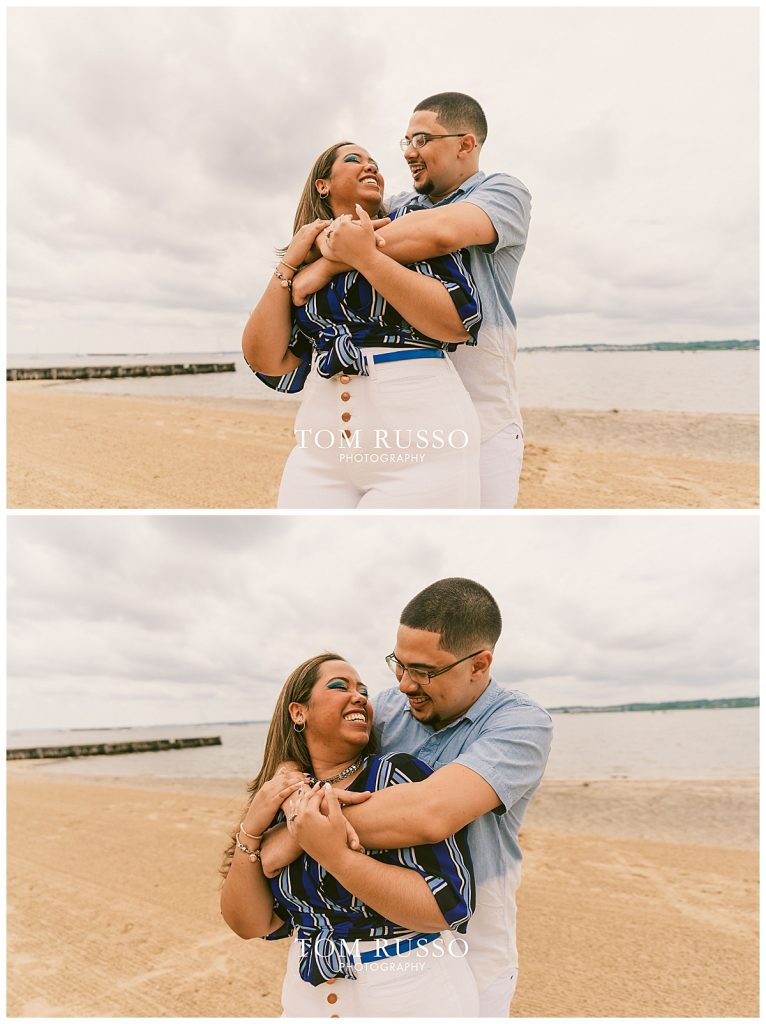 Marianny and Randy Waterfront Engagement Session Perth Amboy NJ 39