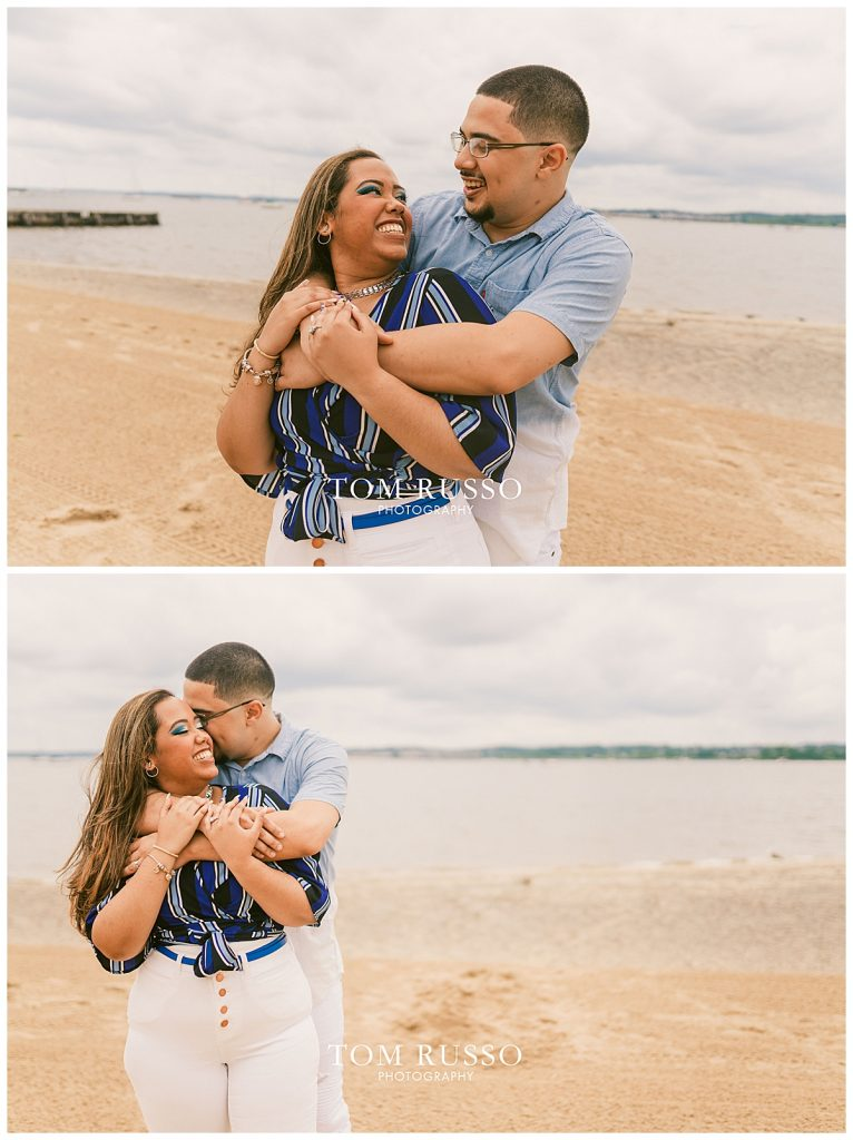 Marianny and Randy Waterfront Engagement Session Perth Amboy NJ 40