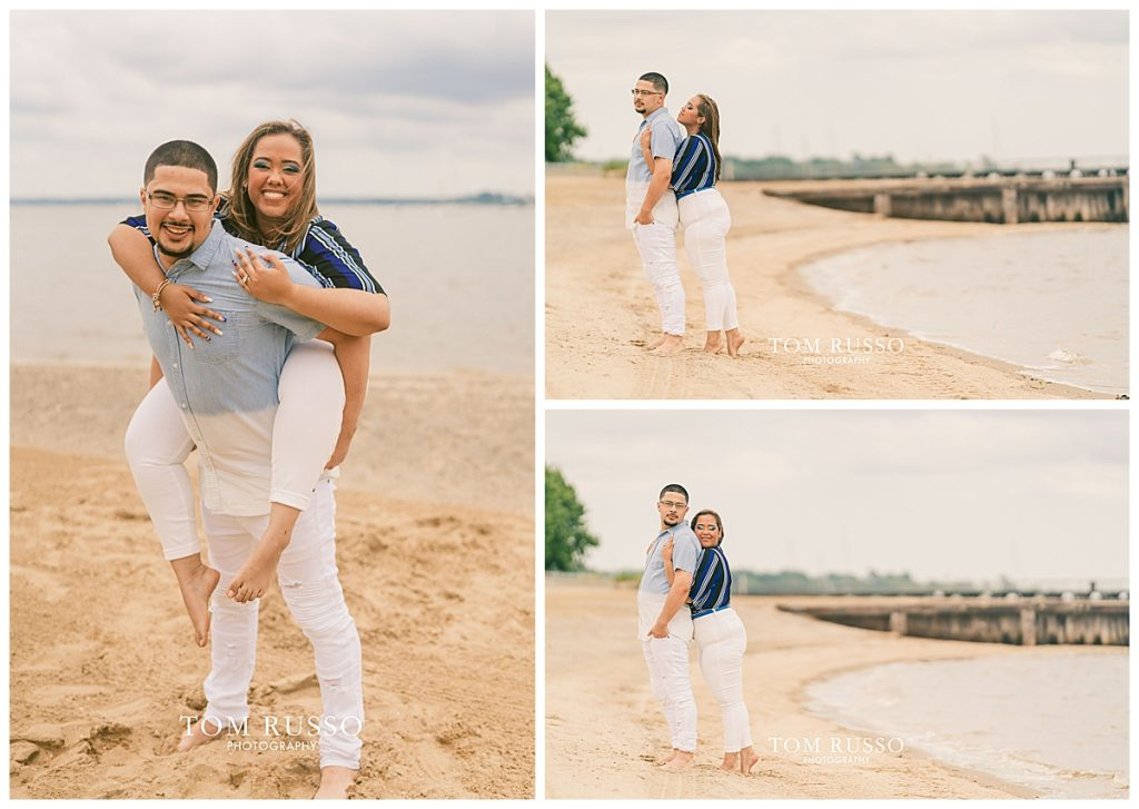 Marianny and Randy Waterfront Engagement Session Perth Amboy NJ 41