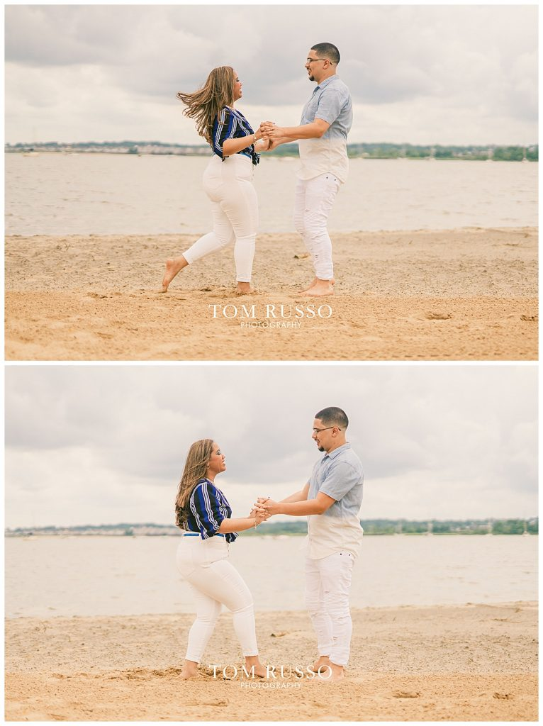 Marianny and Randy Waterfront Engagement Session Perth Amboy NJ 42