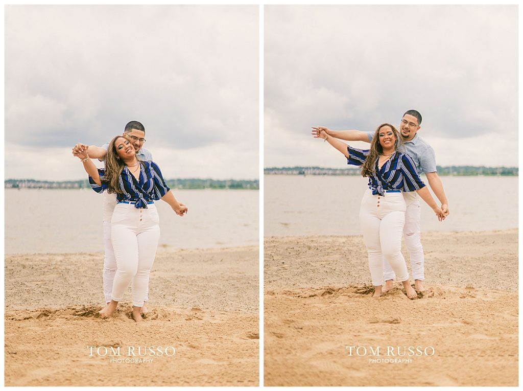 Marianny and Randy Waterfront Engagement Session Perth Amboy NJ 43