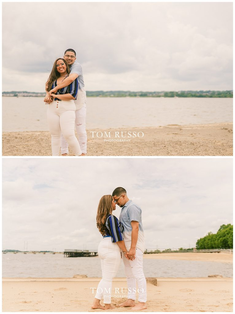 Marianny and Randy Waterfront Engagement Session Perth Amboy NJ 45