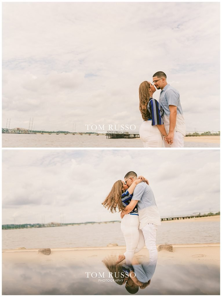 Marianny and Randy Waterfront Engagement Session Perth Amboy NJ 46