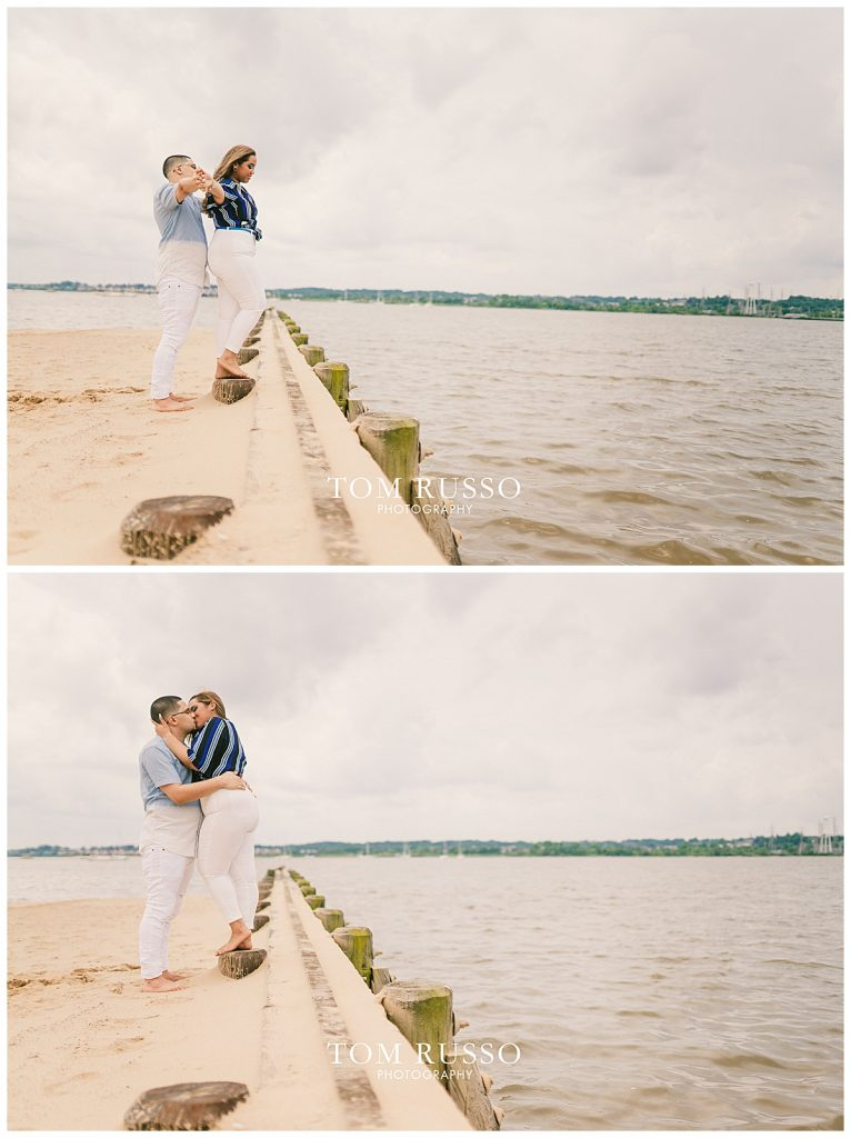 Marianny and Randy Waterfront Engagement Session Perth Amboy NJ 47