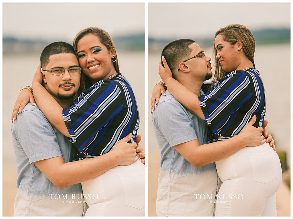 Marianny and Randy Waterfront Engagement Session Perth Amboy NJ 48