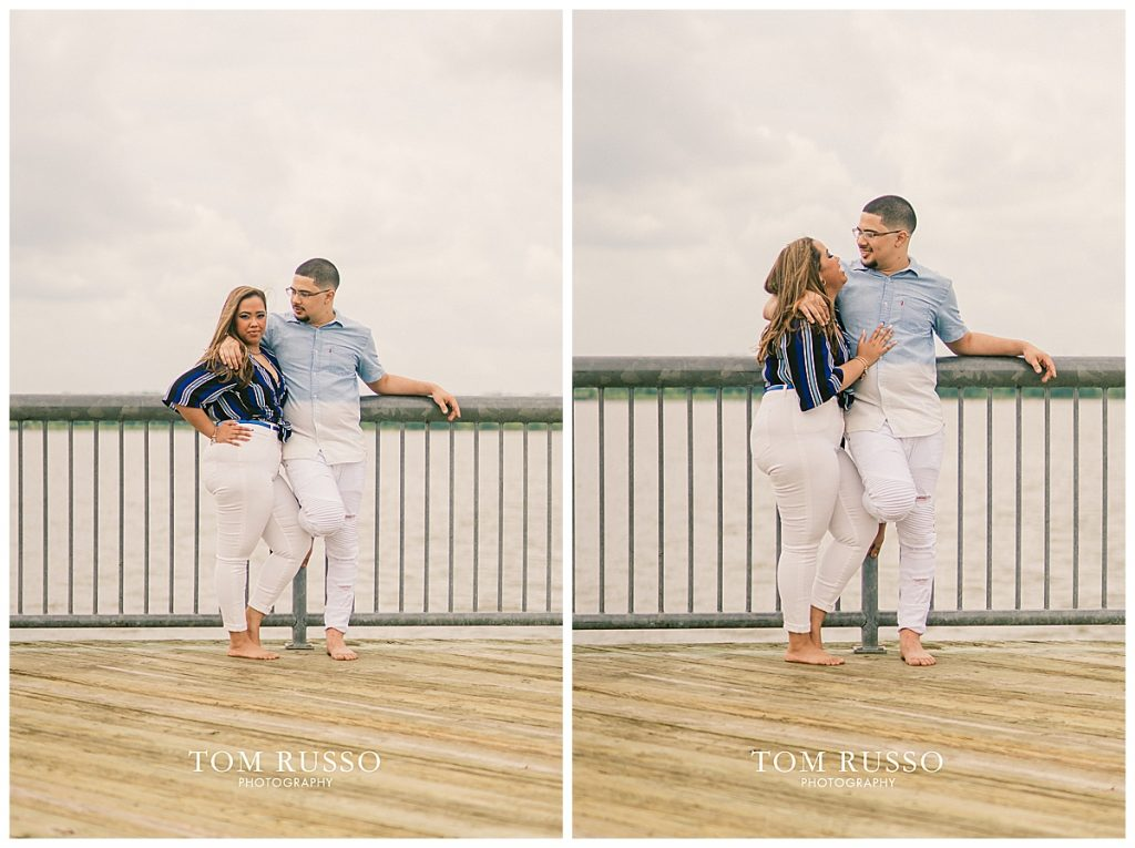 Marianny and Randy Waterfront Engagement Session Perth Amboy NJ 49