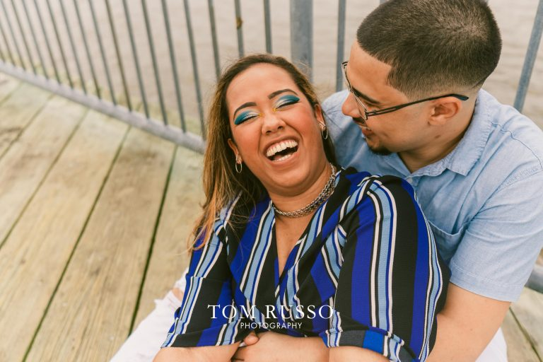 Marianny and Randy Waterfront Engagement Session Perth Amboy NJ 6