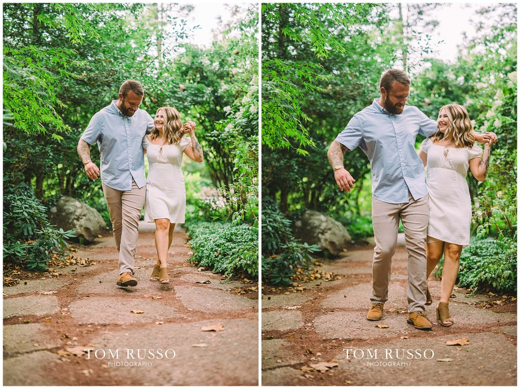Alexis and Spencer Engagement Session Sayen Gardens Hamilton NJ 53
