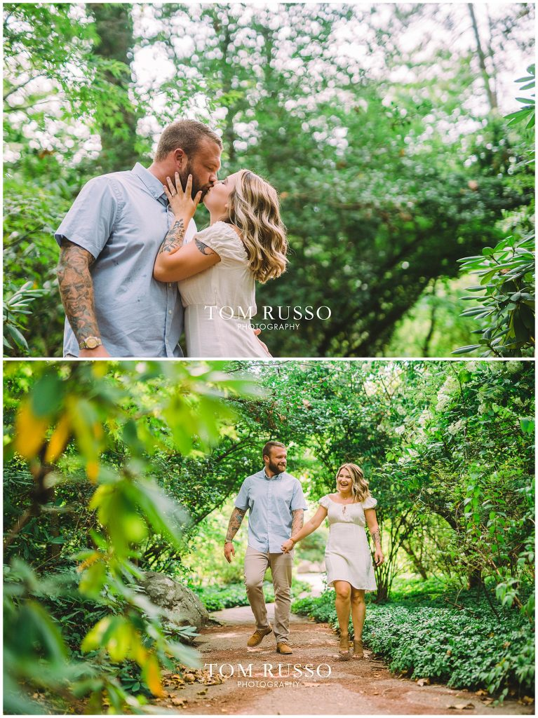 Alexis and Spencer Engagement Session Sayen Gardens Hamilton NJ 54