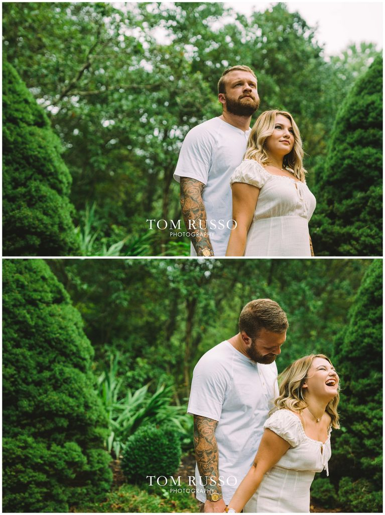 Alexis and Spencer Engagement Session Sayen Gardens Hamilton NJ 62