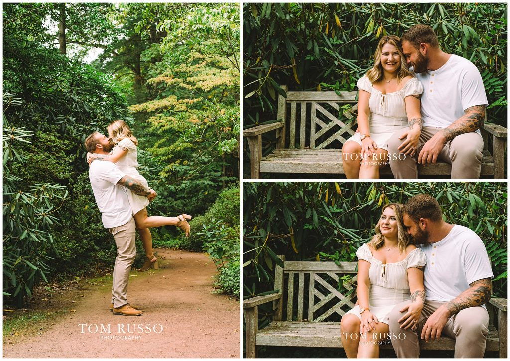 Alexis and Spencer Engagement Session Sayen Gardens Hamilton NJ 65
