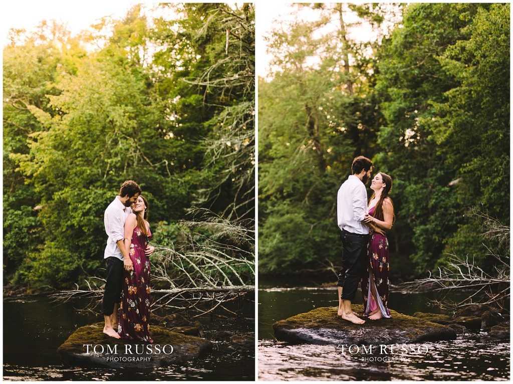 Engagement Session Camp William Penn Lake