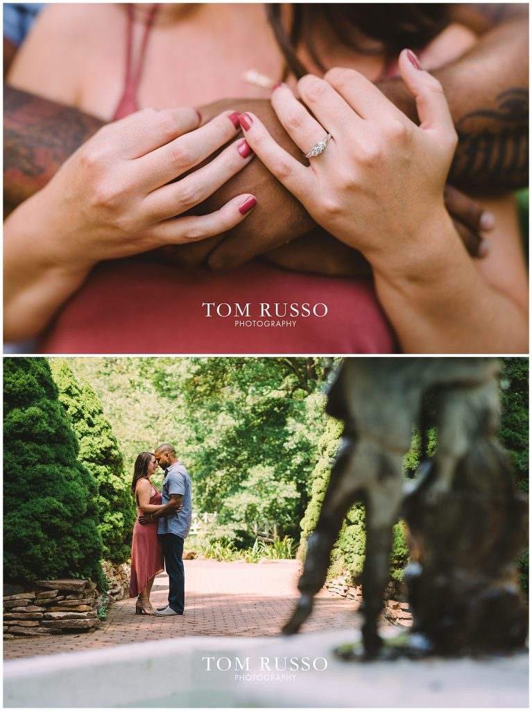 Melissa & Adrian Engagement Session Sayen Gardens Hamilton NJ 70