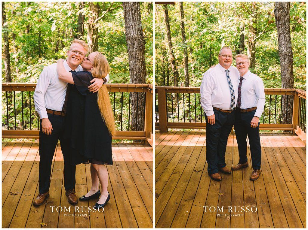 Kelly & Gavin Wedding Table Rock Lake Kimberling City MO 207