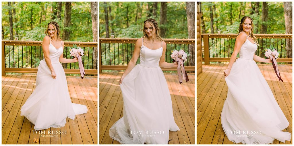Kelly & Gavin Wedding Table Rock Lake Kimberling City MO 213