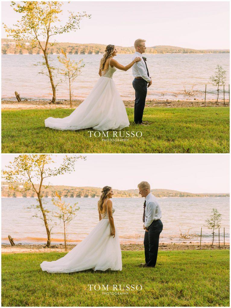 Kelly & Gavin Wedding Table Rock Lake Kimberling City MO 223