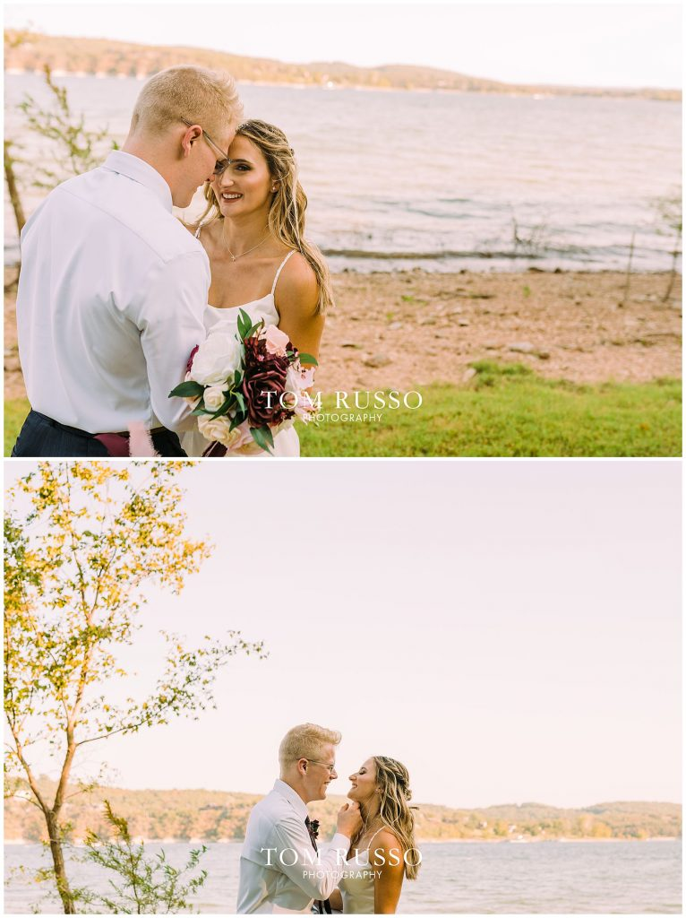 Kelly & Gavin Wedding Table Rock Lake Kimberling City MO 225