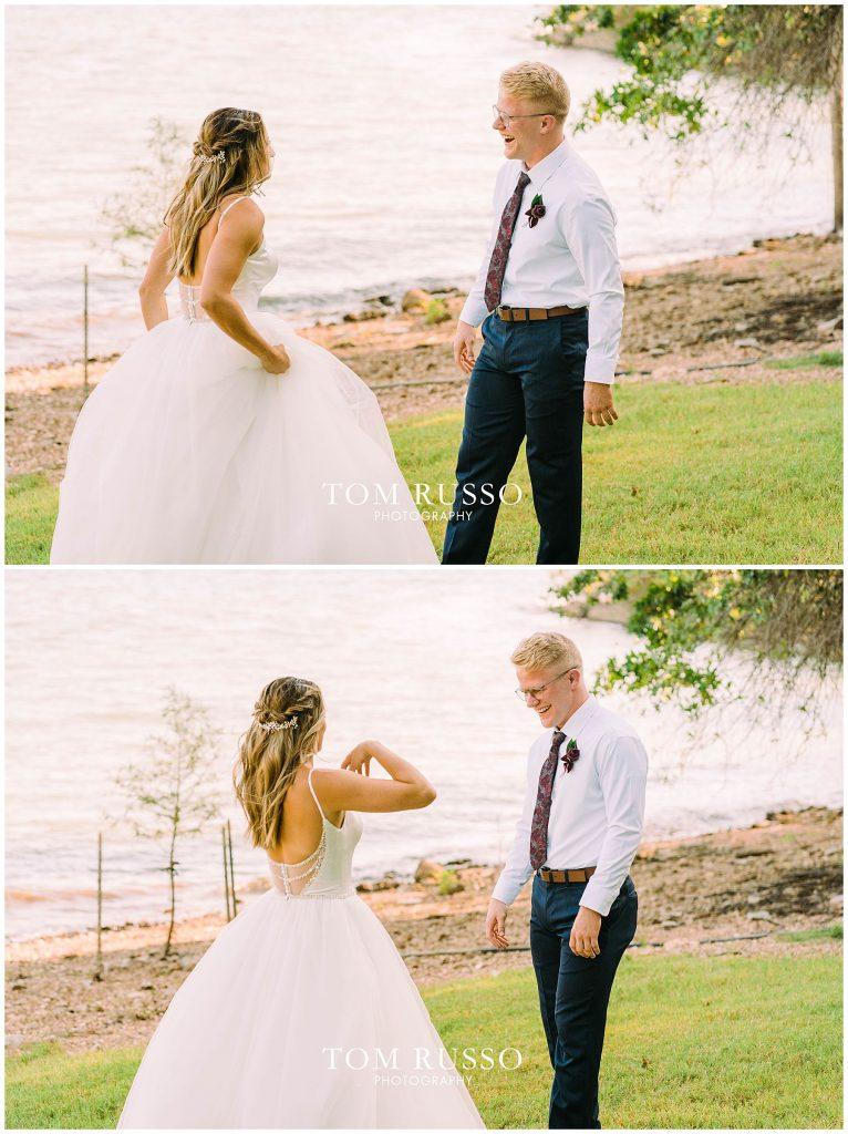 Kelly & Gavin Wedding Table Rock Lake Kimberling City MO 226