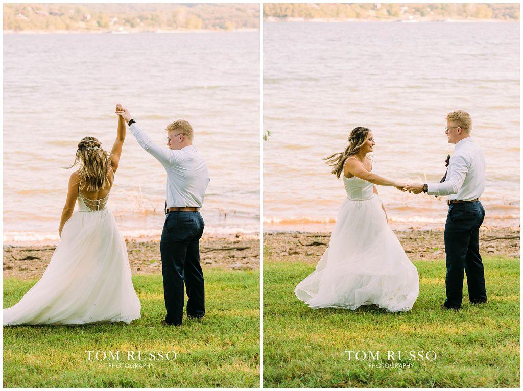 Kelly & Gavin Wedding Table Rock Lake Kimberling City MO 227