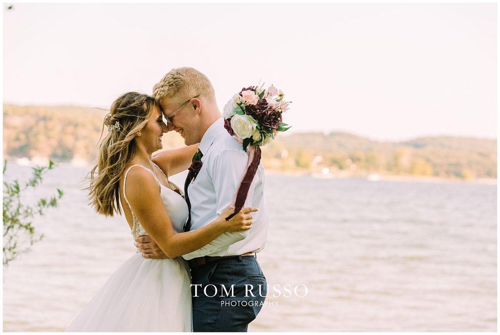 Kelly & Gavin Wedding Table Rock Lake Kimberling City MO 228