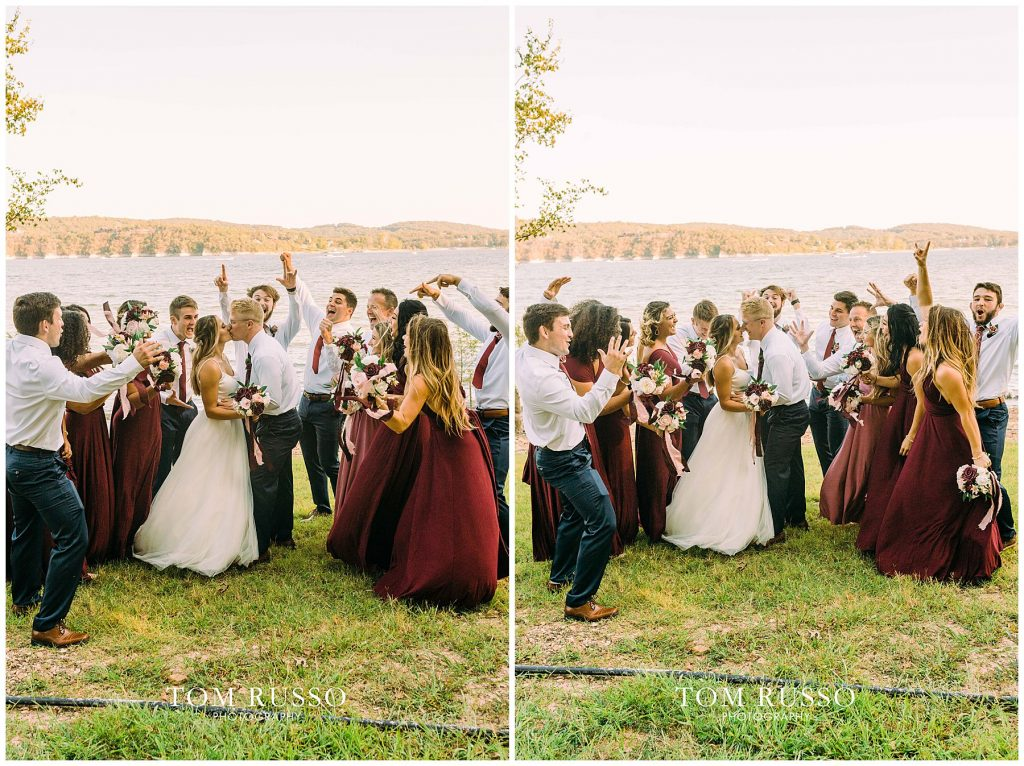 Kelly & Gavin Wedding Table Rock Lake Kimberling City MO 230