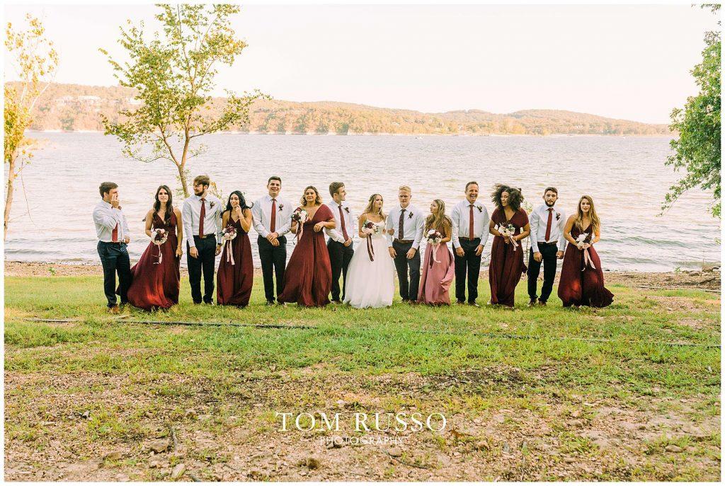 Kelly & Gavin Wedding Table Rock Lake Kimberling City MO 232
