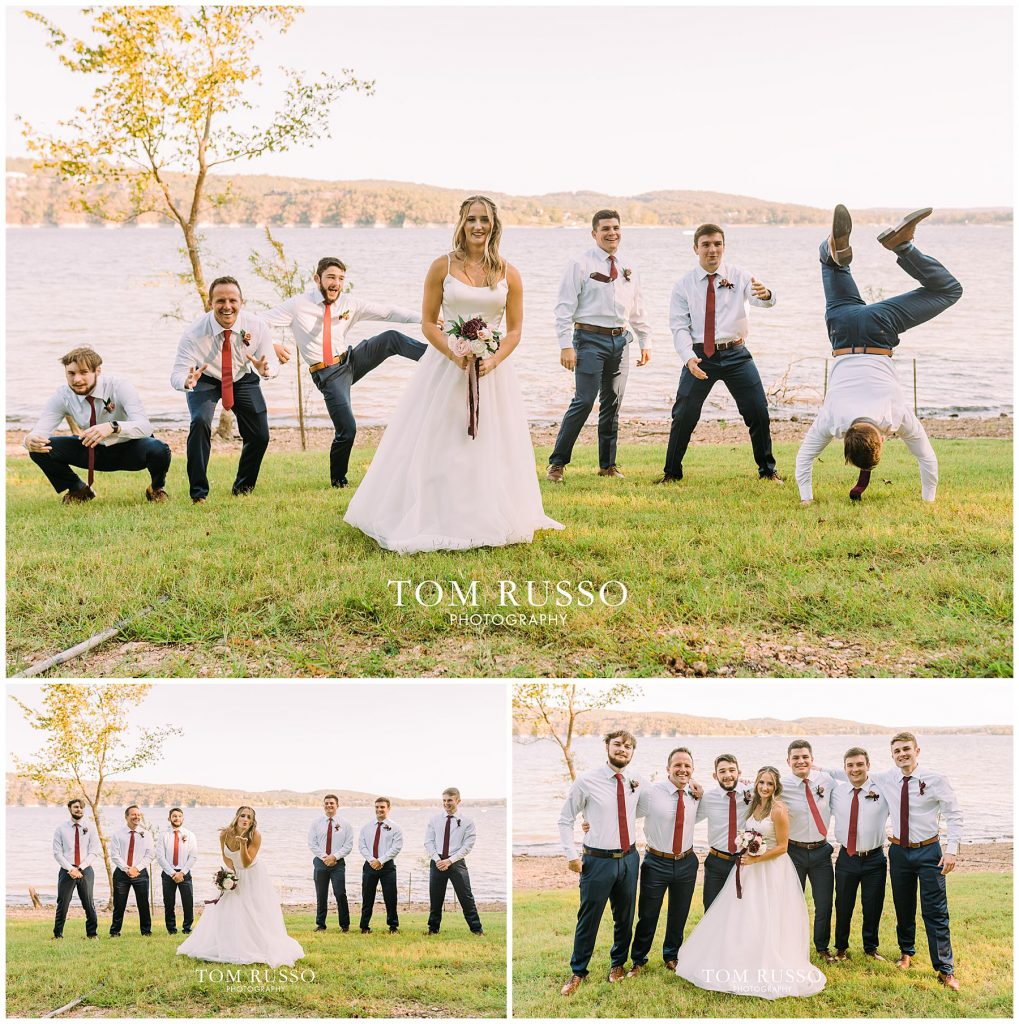 Kelly & Gavin Wedding Table Rock Lake Kimberling City MO 237