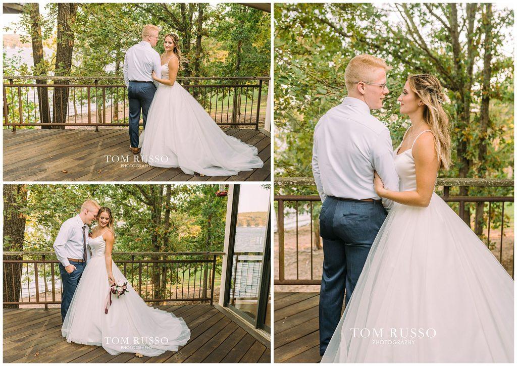 Kelly & Gavin Wedding Table Rock Lake Kimberling City MO 240