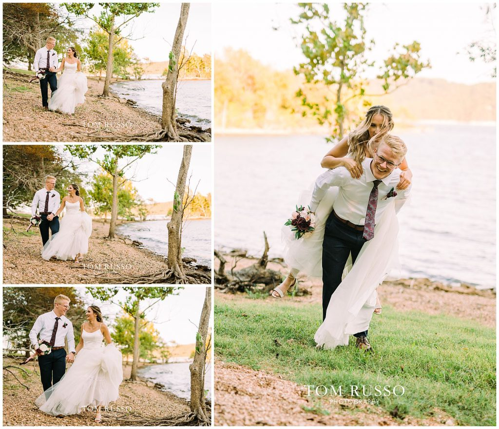Kelly & Gavin Wedding Table Rock Lake Kimberling City MO 242
