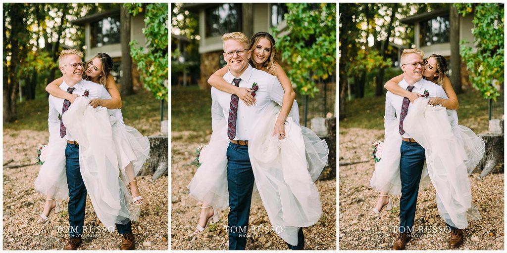 Kelly & Gavin Wedding Table Rock Lake Kimberling City MO 243