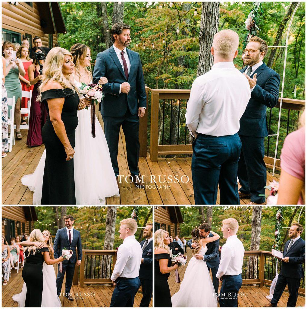 Kelly & Gavin Wedding Table Rock Lake Kimberling City MO 246