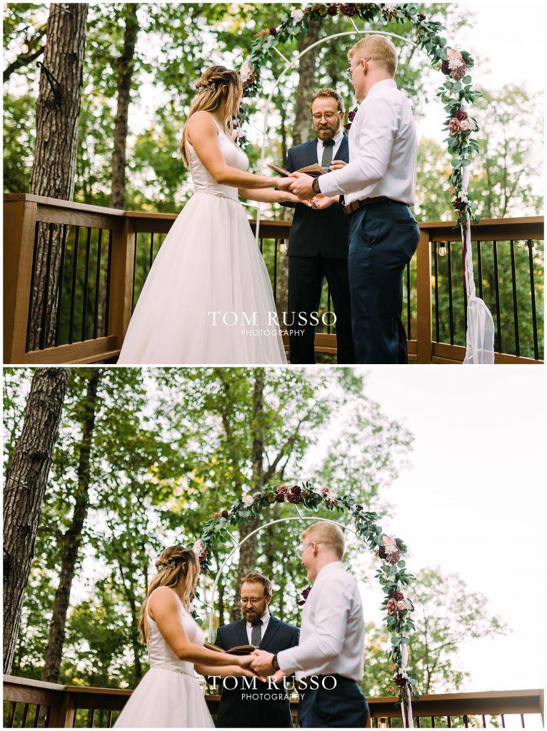 Kelly & Gavin Wedding Table Rock Lake Kimberling City MO 247