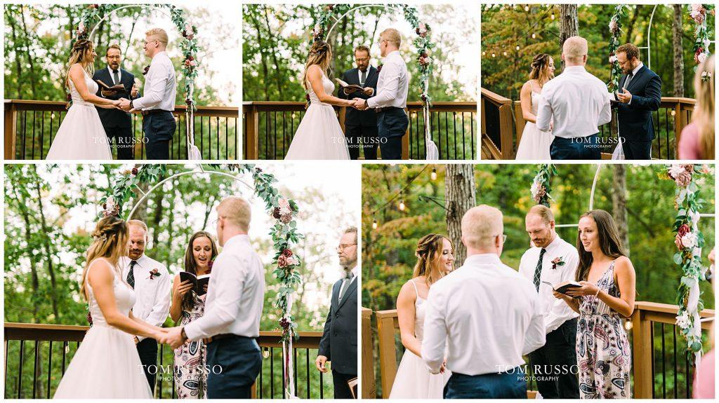 Kelly & Gavin Wedding Table Rock Lake Kimberling City MO 248