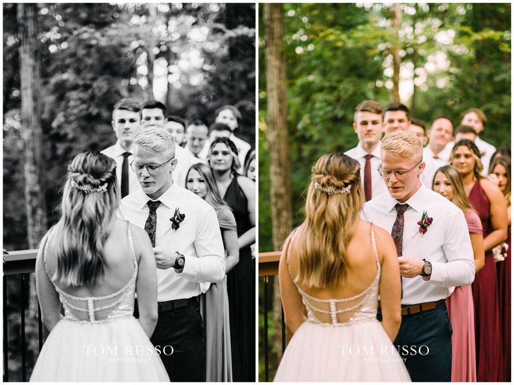 Kelly & Gavin Wedding Table Rock Lake Kimberling City MO 251