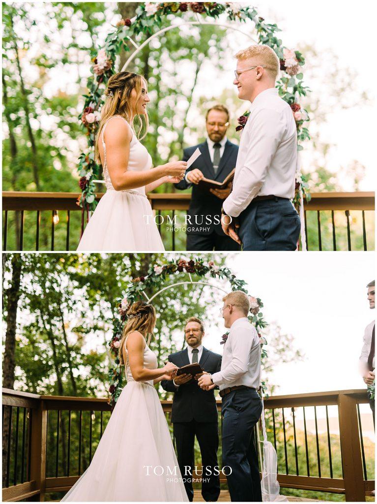 Kelly & Gavin Wedding Table Rock Lake Kimberling City MO 253