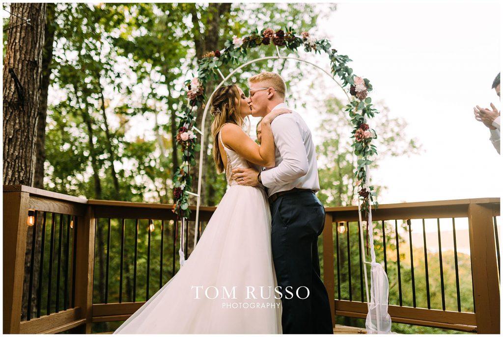 Kelly & Gavin Wedding Table Rock Lake Kimberling City MO 254