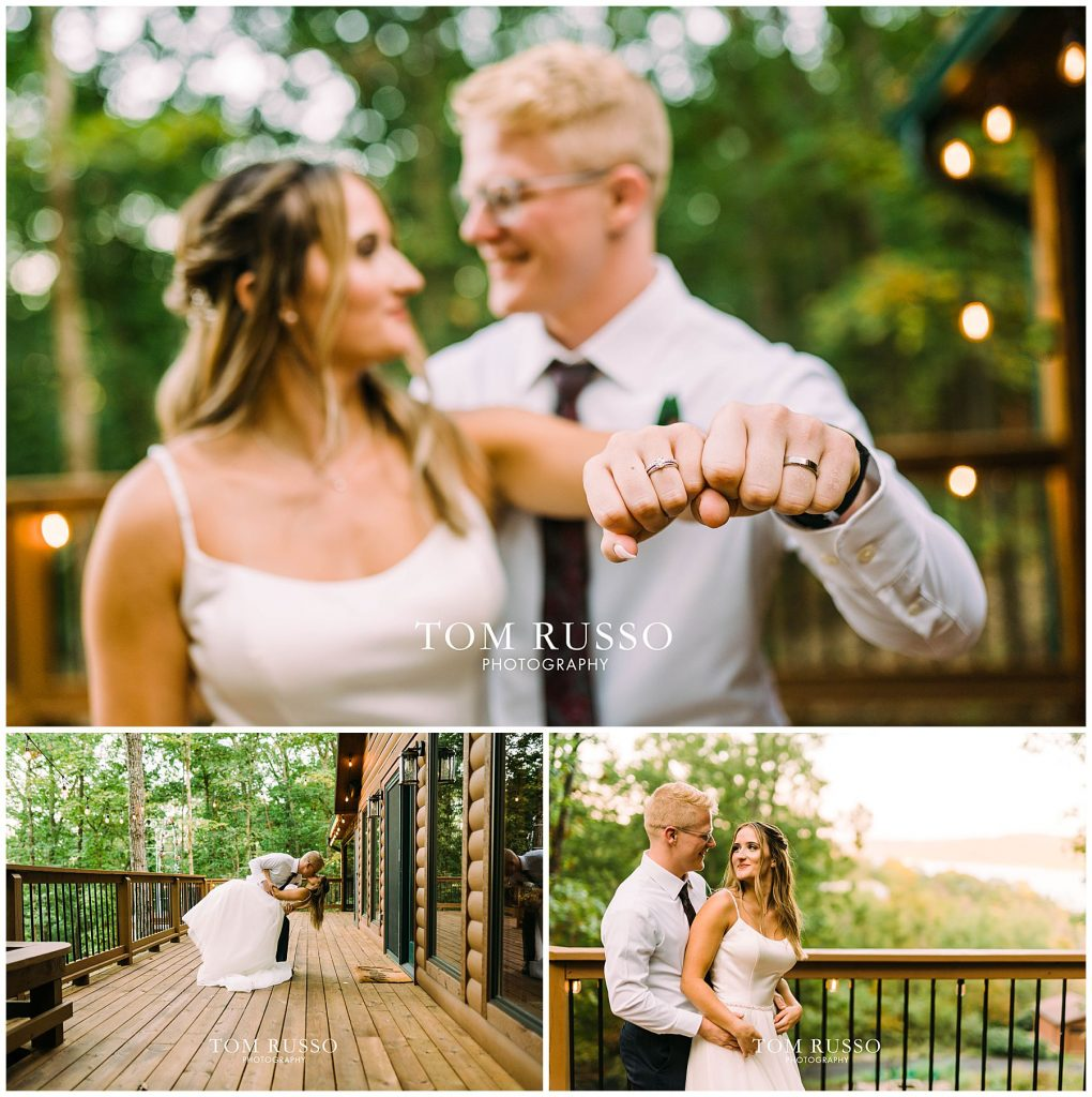 Kelly & Gavin Wedding Table Rock Lake Kimberling City MO 255
