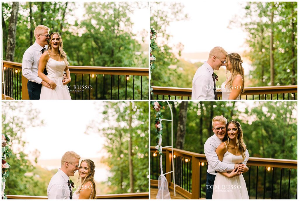Kelly & Gavin Wedding Table Rock Lake Kimberling City MO 256