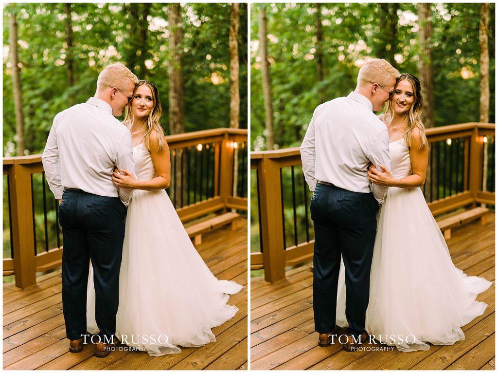 Kelly & Gavin Wedding Table Rock Lake Kimberling City MO 257