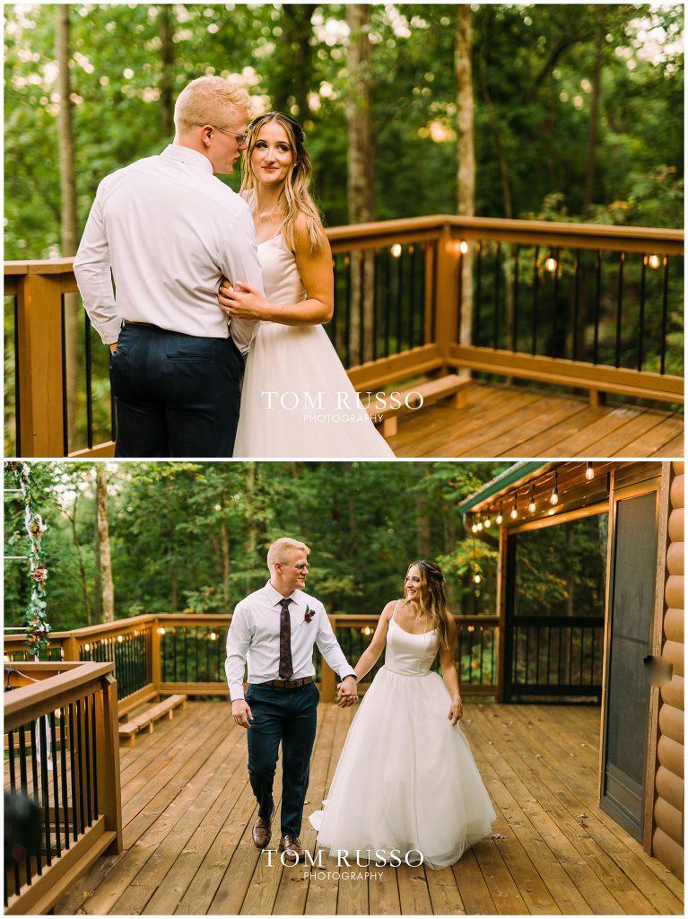 Kelly & Gavin Wedding Table Rock Lake Kimberling City MO 258