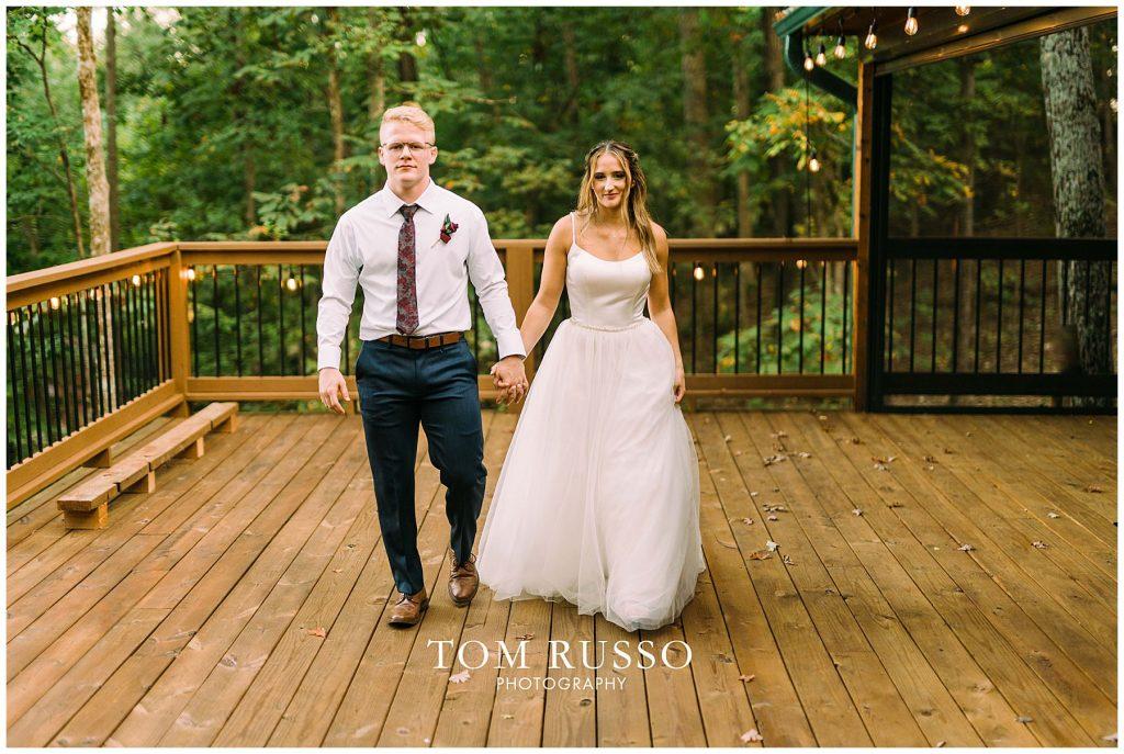 Kelly & Gavin Wedding Table Rock Lake Kimberling City MO 259