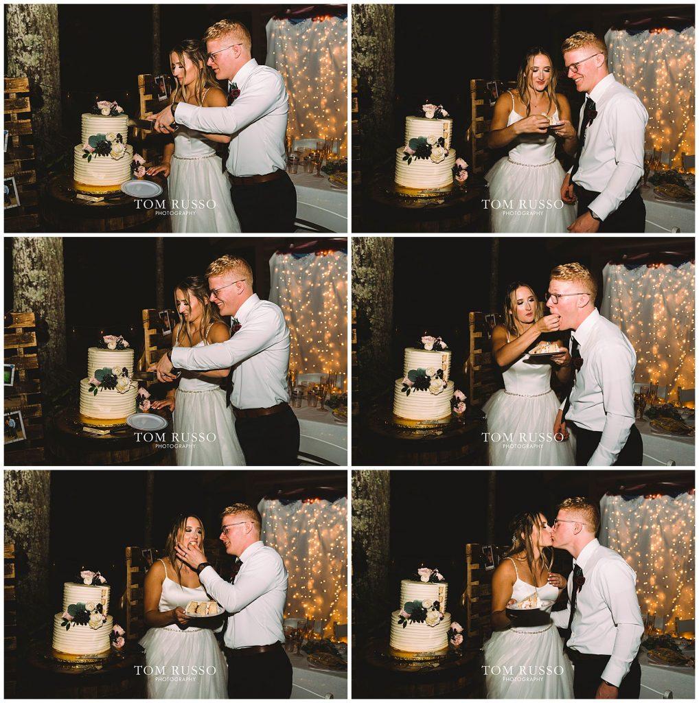 Kelly & Gavin Wedding Table Rock Lake Kimberling City MO 263