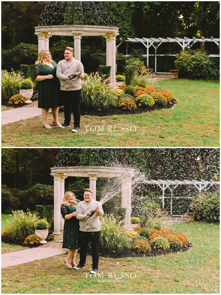 Lacee & Christian Engagement Session Sayen House and Gardens Hamilton NJ 54