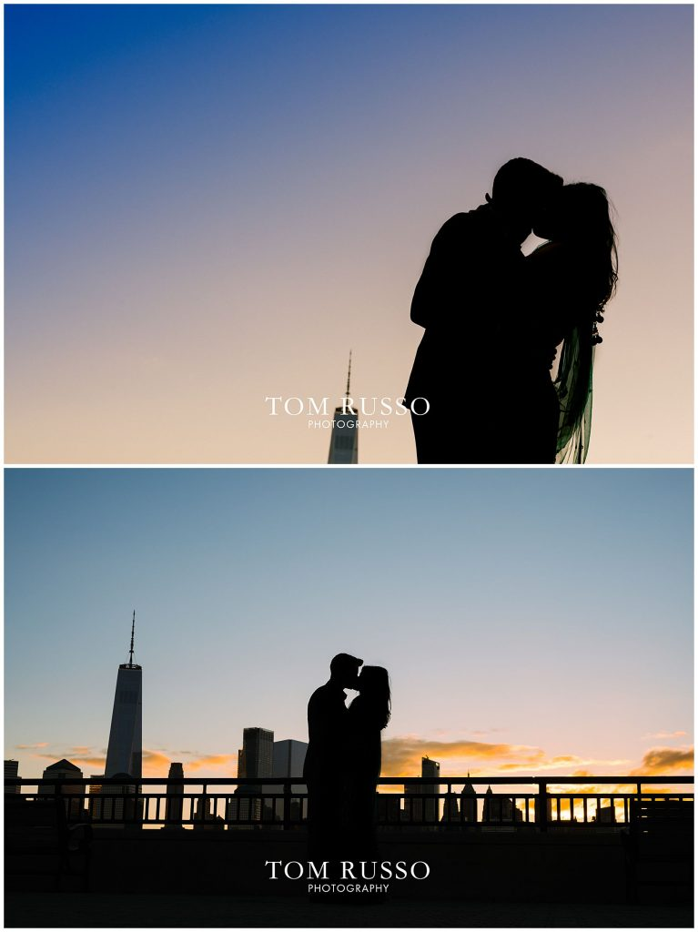 Sunrise Engagement Session Liberty State Park