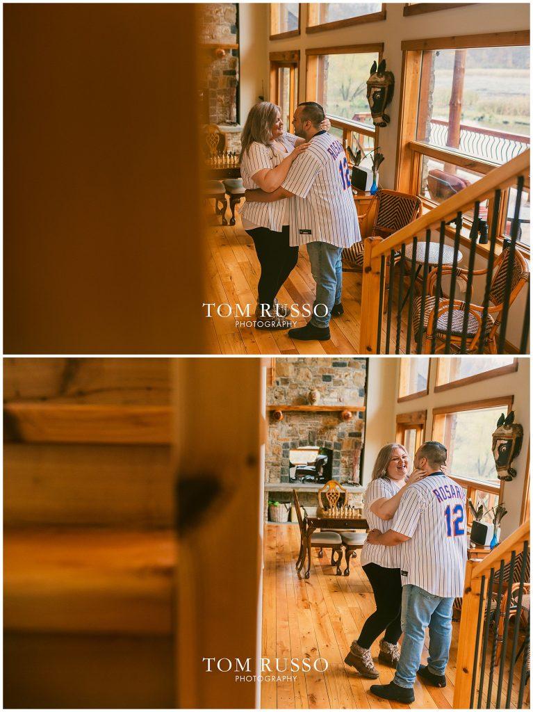 Caroline & Angel At Home Cabin Engagement Session 41