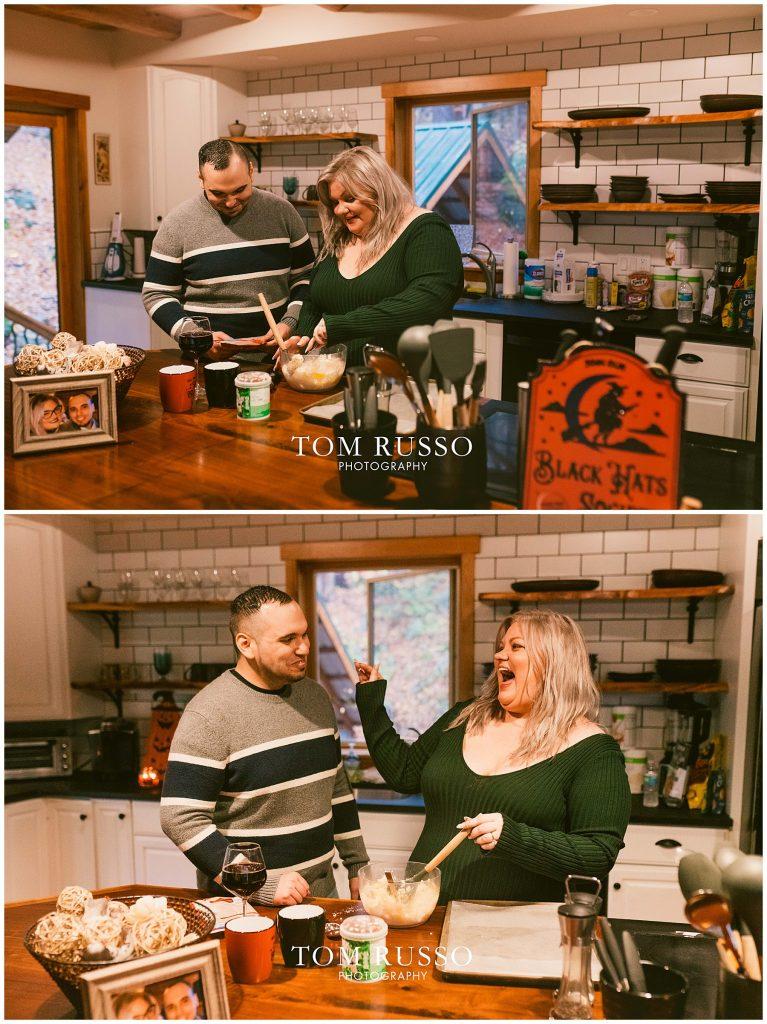 Caroline & Angel At Home Cabin Engagement Session 43